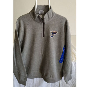 NHL 1/4 Zip Pullover Sweatshirt New With Tags Gray